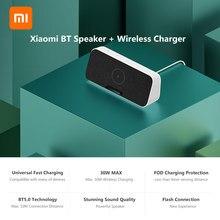 Xiaomi BT Lautsprecher Schnelle Drahtlose Ladegerät 30W MAX BT 5,0 Startseite Musik Lautsprecher Mit Mikrofon HD Anruf Für iPhone samsung Xiaomi