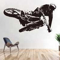 Autocollants de moto tout-terrain véhicule de course affiches de Motocross Stickers muraux en vinyle décor Mural extrême Autocycle décalcomanies de course
