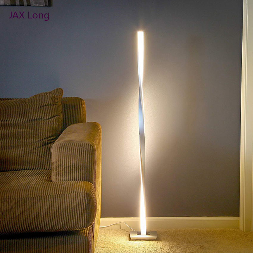 Nordic LED Floor Lamps Modern Metal Aluminum Shadeless Dimmable LED Standing Lights Fixtures Living Room Bedroom Decor Luminaire