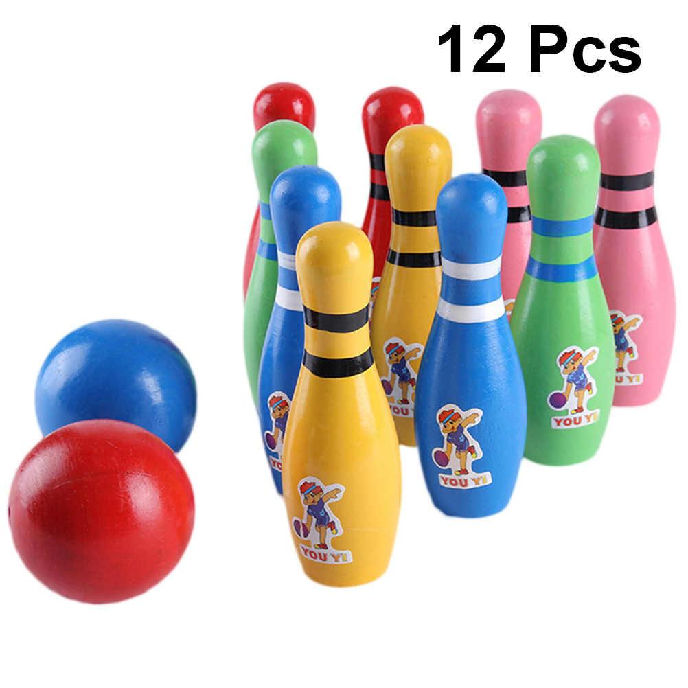 12 шт. в упаковке, кегли и мячи большие Размеры безопасные Развивающие игрушки для детей и подростков
