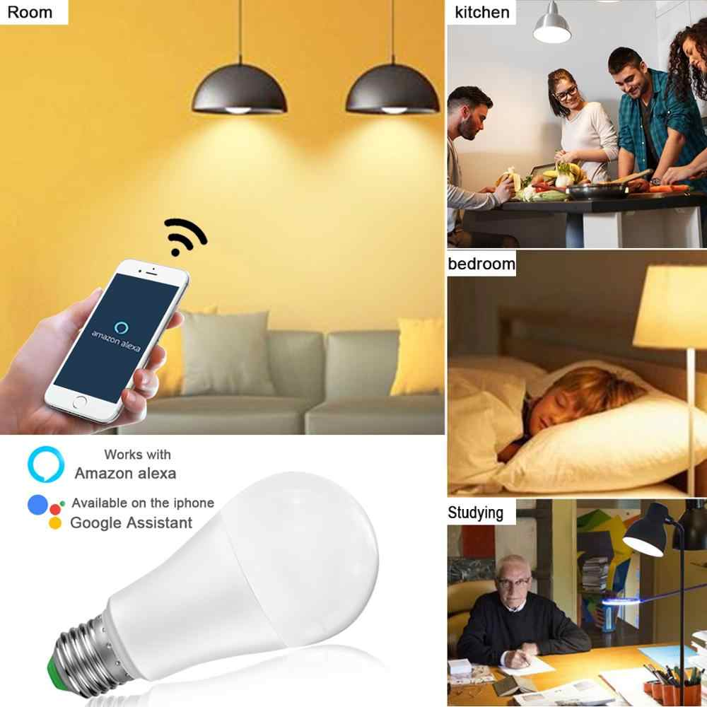 Smart Wifi Lamp Dimbare 15 W Led Smart Home Levensduur Lampen Bluetooth Rgbw Rgbww App Controle Home Verlichting Slaapkamer Tafel lamp Decor