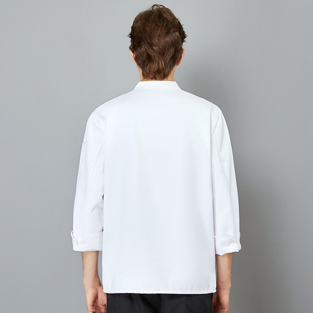 The Chef Uniform Long Sleeve Qiu Dong Outfit Hotel Catering Kitchen Chef Uniform Bakery Equipment After Men And Women  3