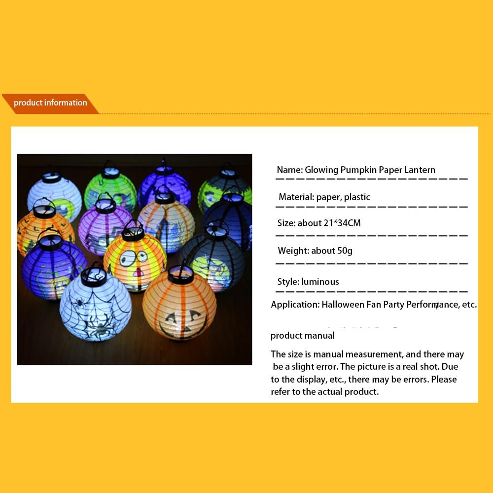 3pcs Halloween lantern Pumpkin Light Glowing Decoration Halloween DIY Hanging decorations in Lanterns from Home Garden