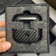 Роскошный чехол из настоящего углеродного волокна для AirPods Pro, беспроводные наушники, Ультратонкий чехол, противоударный чехол для AirPods 3 Pro, аксессуары