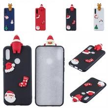 Santa Claus Cute Cover Phone Case For Huawei Y6 Y7 Y5 2018 Case For Huawei Y7 Y6 Protective Case Y5 Y7 Y9 2019 Shell