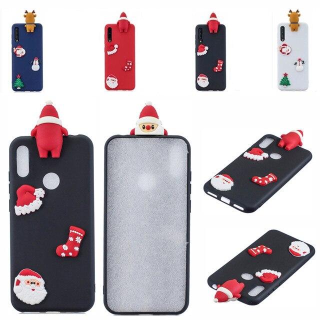 Santa Claus Nette Abdeckung Telefon Fall Für Huawei Y6 Y7 Y5 2018 Fall Für Huawei Y7 Y6 Schutzhülle Y5 y7 Y9 2019 Shell