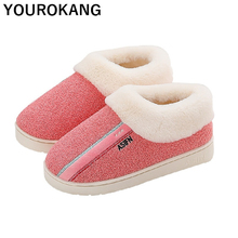 Women Winter Shoes Warm Plush Home Slippers Furry Bedroom Floor Household Cotton Slipper Couple Unisex Hot Sale Big Size