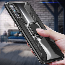 Shockproof Magnetic Car Holder Ring Case on For Honor 8x 10 20 lite 10