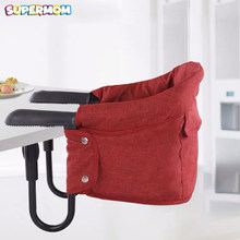 Baby Feeding High Chair Portable Chair For Babies Five-point Seat Belt Dining Booster Chair Child Hook-on Seat Cover Kids Eating(China)