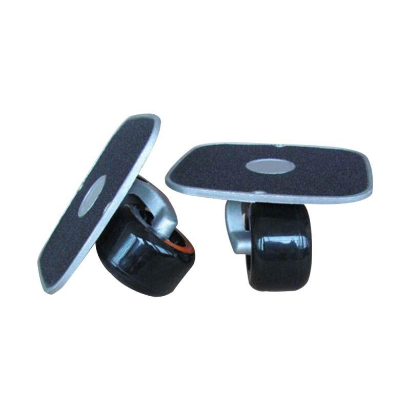 Drift Board Shock Resistant Portable Aluminum Alloy Split Skateboard Roller Drift Skates Plate With PU Wheels For Fitness