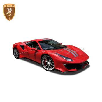 real carbon fiber side skirts for Ferrari 488 OME style car accessories