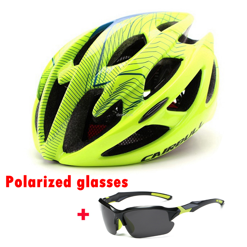CAIRBULL Road Bike Helmet Ultralight Bicycle Helmets Men Women Mountain Bike Riding Cycling Integrally-molded Helmet Sunglasses