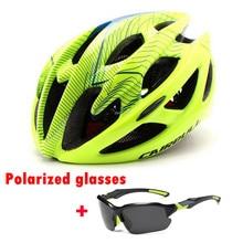 Cairbull estrada capacete da bicicleta ultraleve capacetes das mulheres dos homens mountain bike equitação ciclismo integralmente moldado capacete óculos de sol