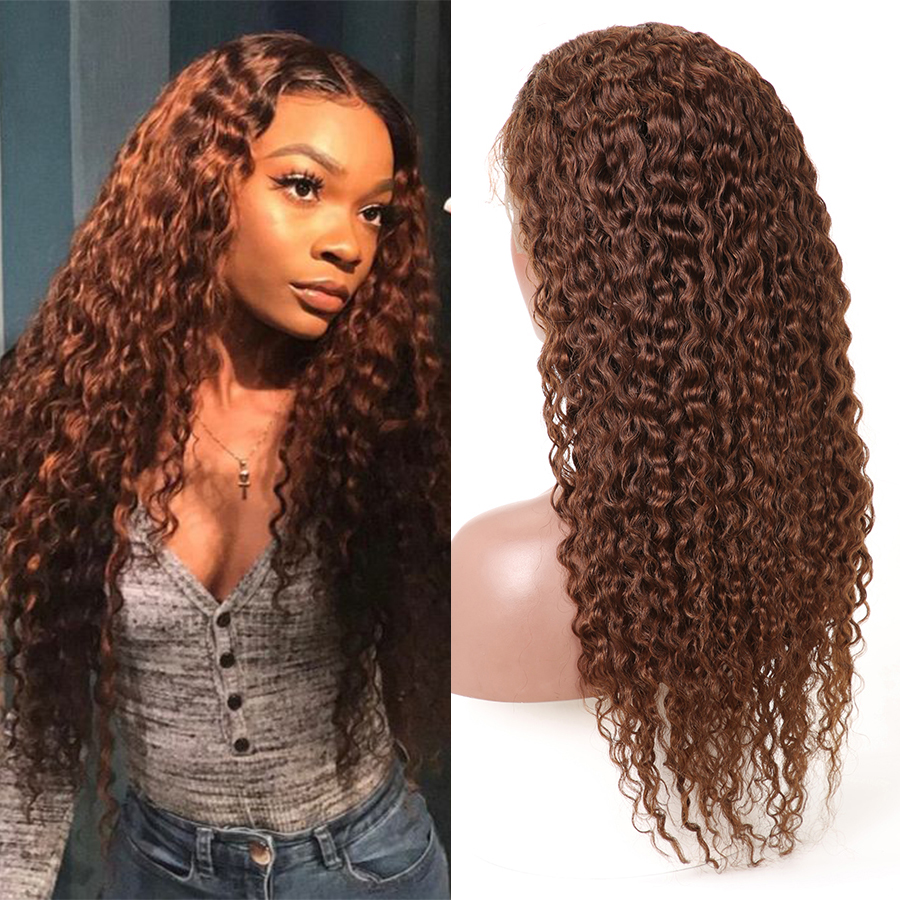 Water Wave Lace Front Human Hair Wigs Pre Plucked 13x4 Lace Front Wig For Black Women #2/#4/natural Color Mslynn Hair Remy