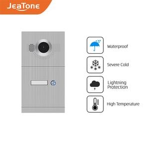 Видеодомофон JeaTone 720P/AHD, дверной звонок, ИК-камера высокого разрешения, кнопки 1/2/3/4, панель вызова, камера IP65, водонепроницаемая, для дома