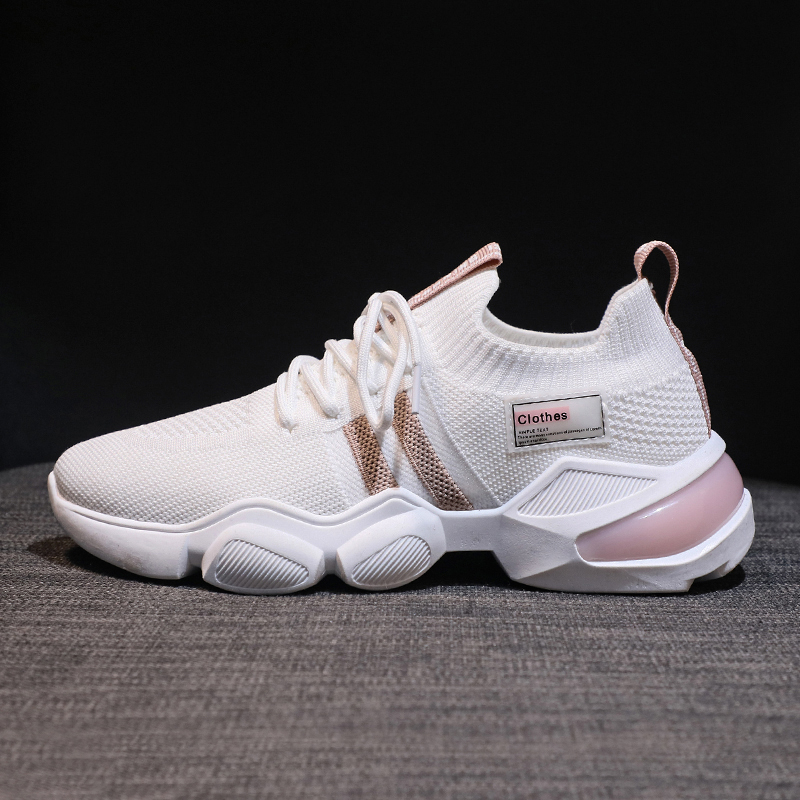 Women Chunky Sneakers Platform Designers Casual Shoes Woman Mesh Breathable Black Fashion Running Trainers Vulcanized Shoes
