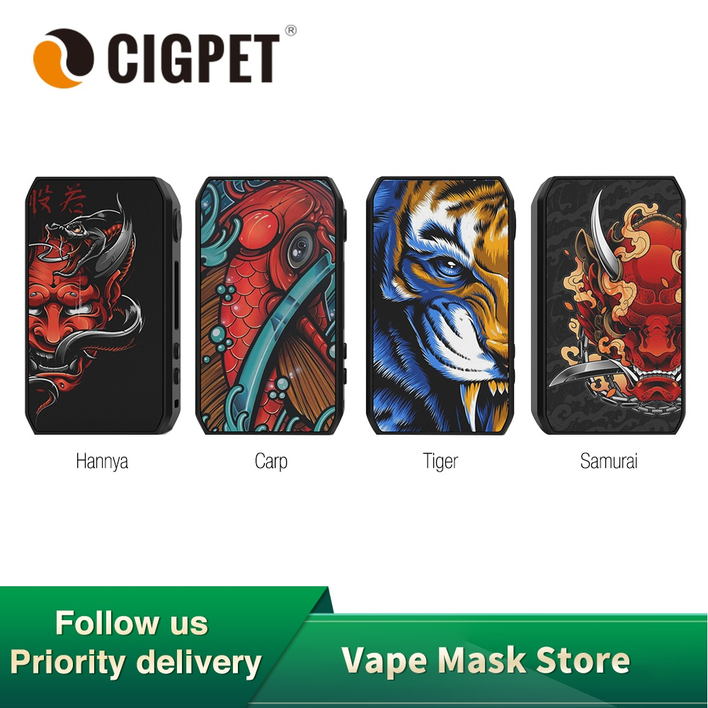 Original CIGPET Capo Regulated Box Mod Power By Dual 18650 Battery 0.91inch OLED Screen Mod Box E-cig Vs Drag 2/ Shogun /gen Mod