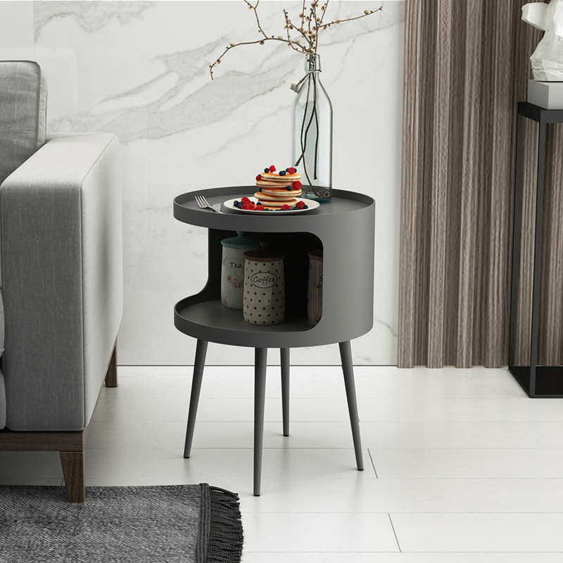 Round Small Storage Table Iron Coffee Table Bedroom Nightstand Bed Side Table Living Room Sofa Table Coffee Tables Aliexpress