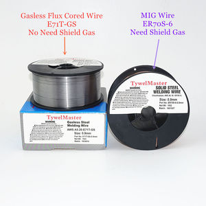 Image 5 - Drut spawalniczy MIG ER70S 6 bezgazowy drut pokryty topnikiem E71T GS 1kg 0.6/0.8/0.9mm osłona gazowa lub brak gazu materiał spawalniczy ze stali węglowej