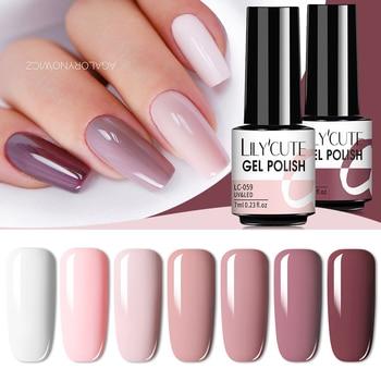 LILYCUTE 7ml Nails Gel Polish Fall Winter Color Long Lasting Hybrid For  Base Top Coat Soak Off UV LED DIY Nail Art Gel 1