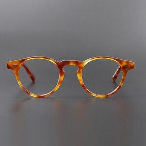 Image 5 - גרגורי פק OV5186 בציר משקפיים נשים ברור מסגרת גברים עגול אופטית מרשם עדשה עגול משקפיים