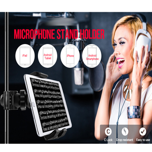 Image 5 - Soporte para tableta y teléfono para soporte de micrófono soporte de plástico ABC para Apple Ipad para Iphone 4,5 10,5 ereader asiento trasero de coche
