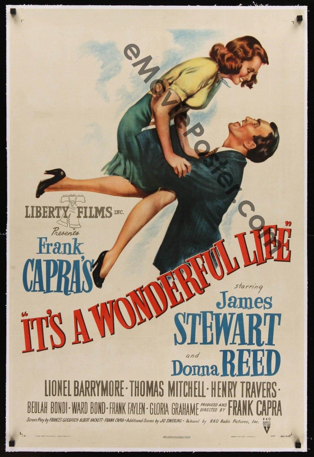 Фильм «это чудесная жизнь», винтажный Шелковый плакат, 24x36 дюймов, настенные картины для украшения гостиной