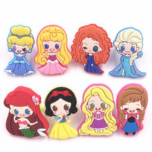 Mixed 8pcs Cartoon Elsa Anna Princess Baby Lovely Finger Ring Rapunzel Icon Ring For Girl Jewerly Accessories Craft Party Gift(China)