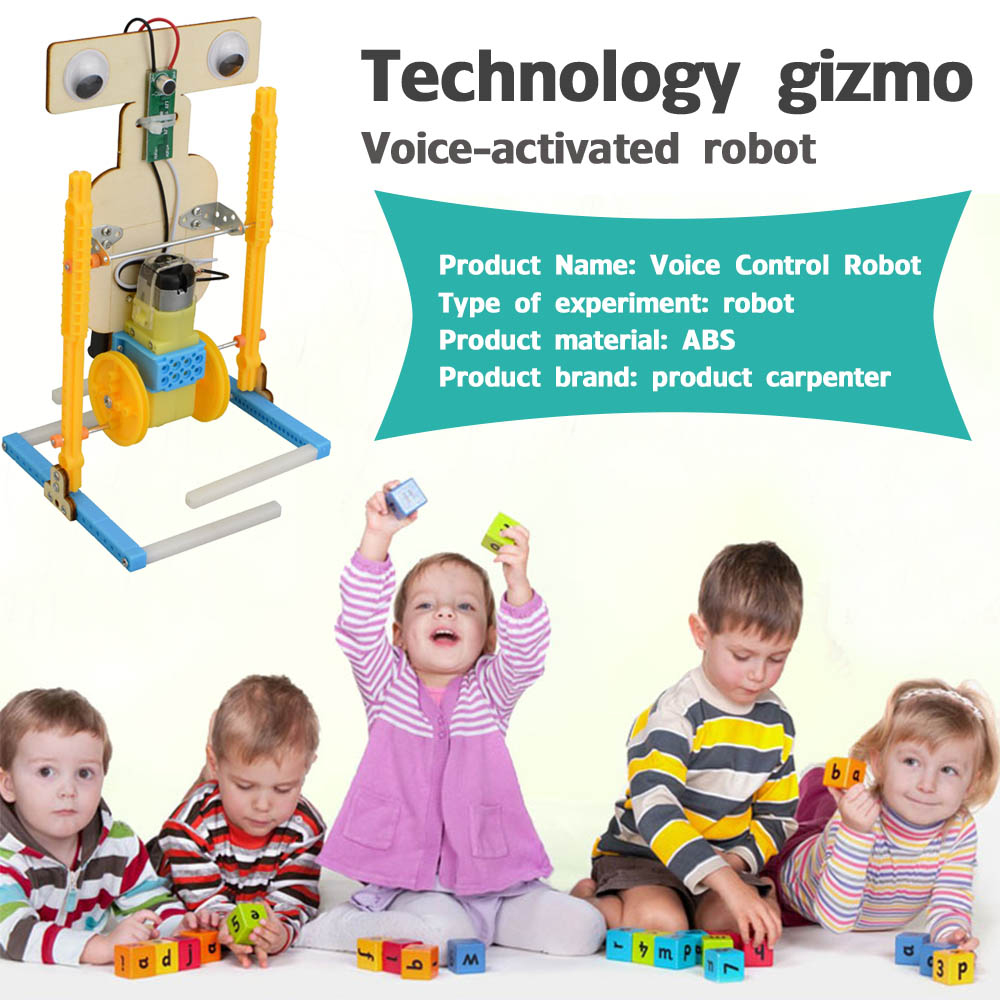 Technology Small Production Boy Homemade Diy Voice Control Robot Primary School Science Experimental Toy Material