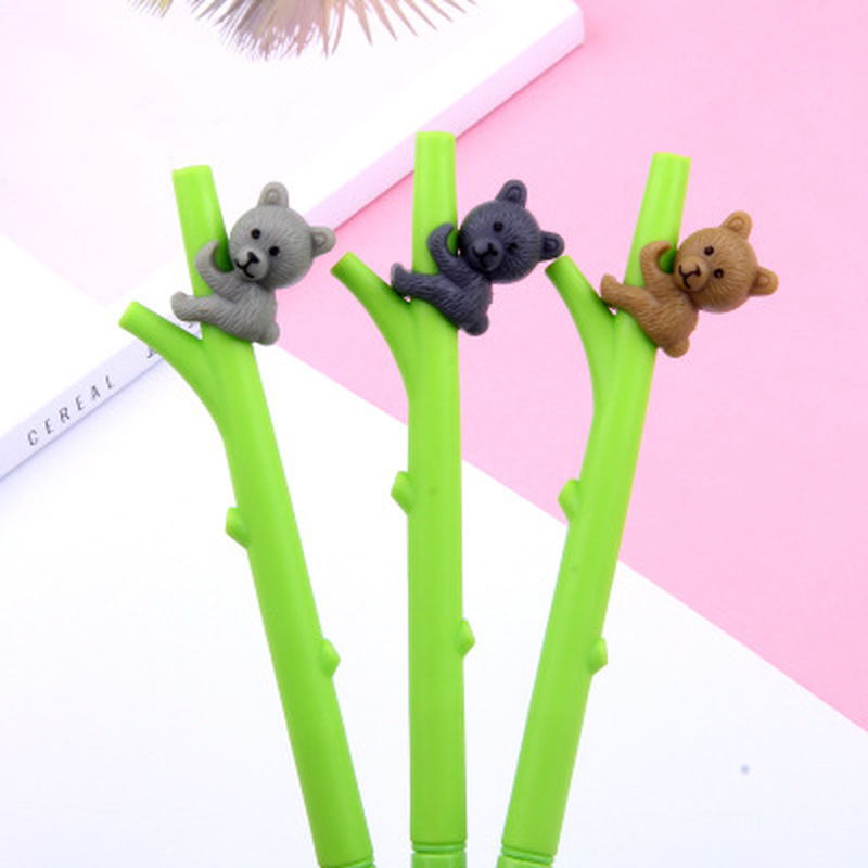 1pcs Koala Bear Gel Pen 0.5mm Cute Pen Novelty Stationery Kawaii Pens Student Cartoon Cute Writing Pens Kawaii School Supplies