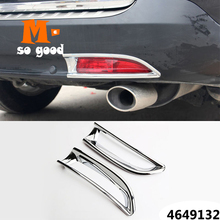 Exterior-Accessories Rear-Fog-Light Chrome CR-V Honda Sticker Frame Lamp ABS for Car-Back