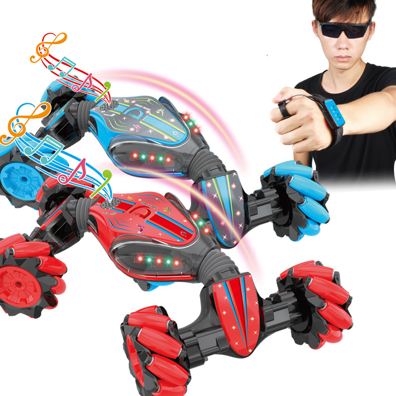 Remote Control Stunt Toy Car Gesture Sensing Four-Wheel Drive With Light Music