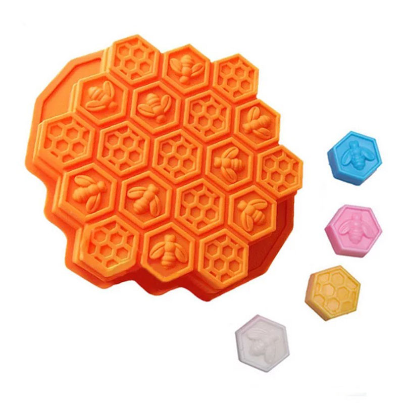 Bee Honeycomb modelling Cake mold Jelly pudding According to  certification baking cake silicone the food safety mold mold flower mold cake mold pan - title=