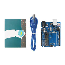 10 pz/lotto per UNO R3 MEGA328P con il Cavo USB + Scatola di R3 Ufficiale per Arduino per UNO