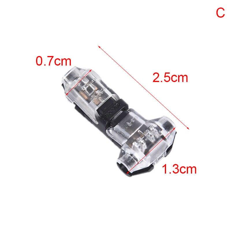 1 PC 1/T tipo 2pin cerradura escocesa de empalme rápido de Connectoren Voor terminales de crimpado Elektrische Auto Audio 24-18AWG Draad conjunto