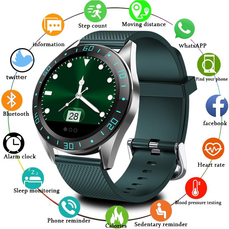 Lige 2019 novo relógio inteligente dos homens tela led monitor de freqüência cardíaca pressão arterial fitness rastreador esporte relógio à prova dwaterproof água + caixa
