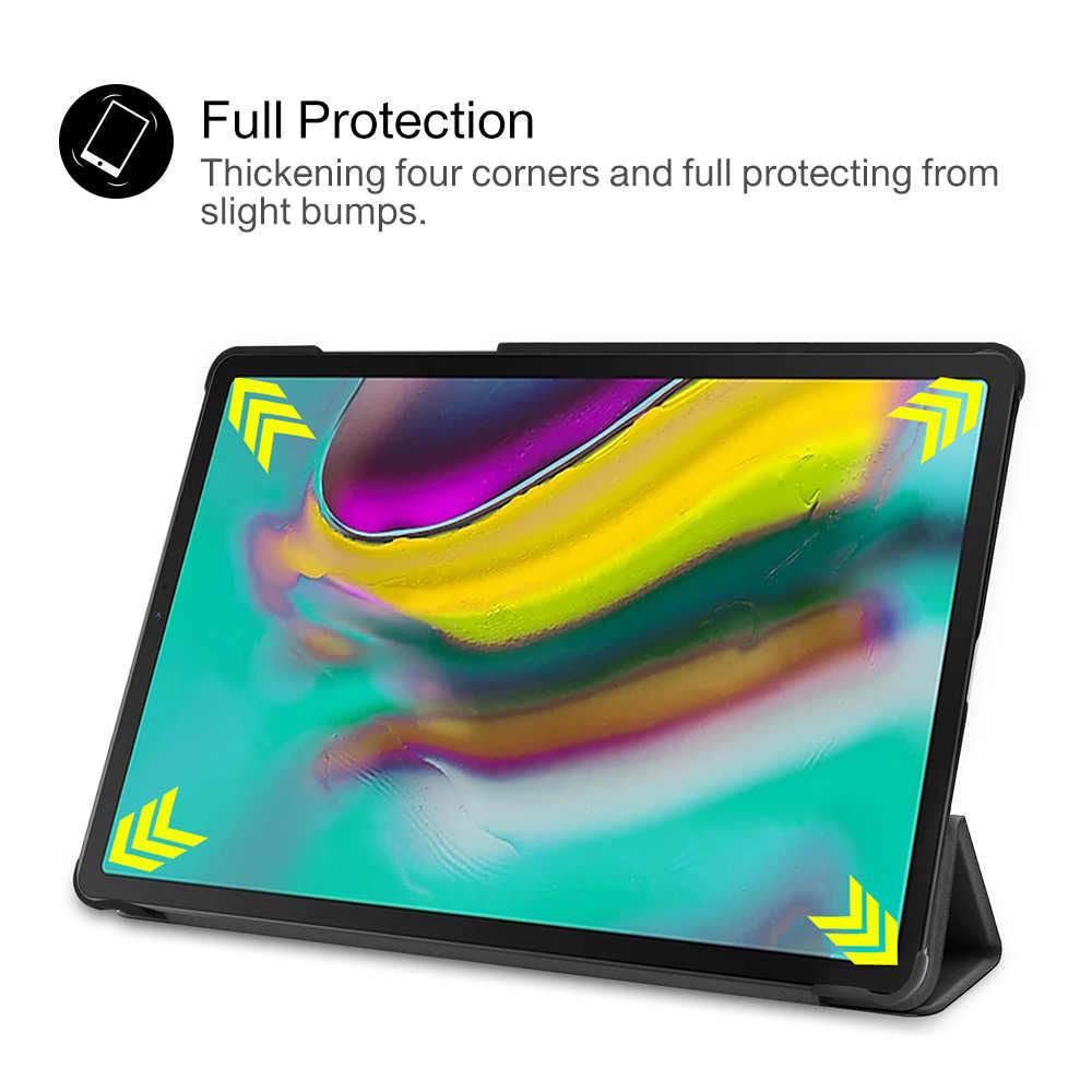 """Untuk Samsung Tab S5E S5E SM-T720 SM-T725 Smart Slim Kulit Magnetic Lipat Dudukan Cover untuk Galaxy Tab 2019 10.5 """"Funda"""