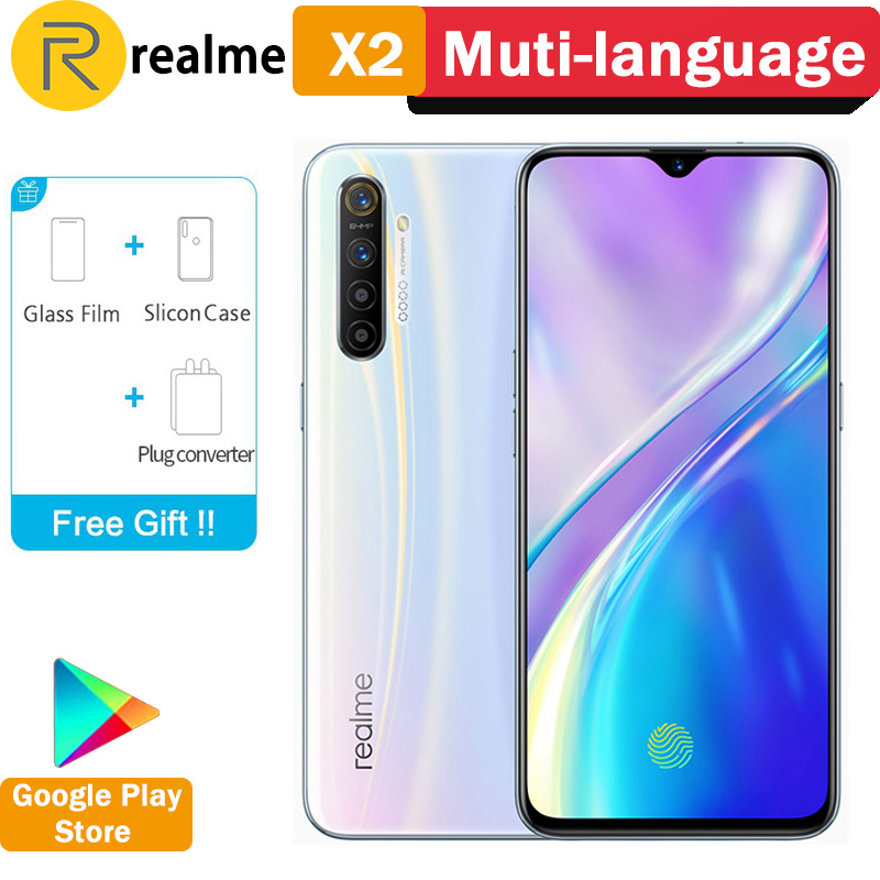 realme X2 Moblie Phone 6.4'' Full Screen Snapdragon 730G 64MP Camera NFC 30W Fast Charger OPPO Cellphone VOOC Cellphones  - AliExpress