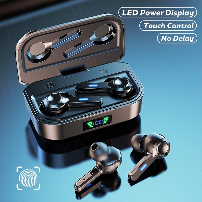 TWS беспроводные наушники HIFI стерео Bluetooth наушники с микрофоном сенсорное управление гарнитура IPX6 спортивные игровые водонепроницаемые нау...