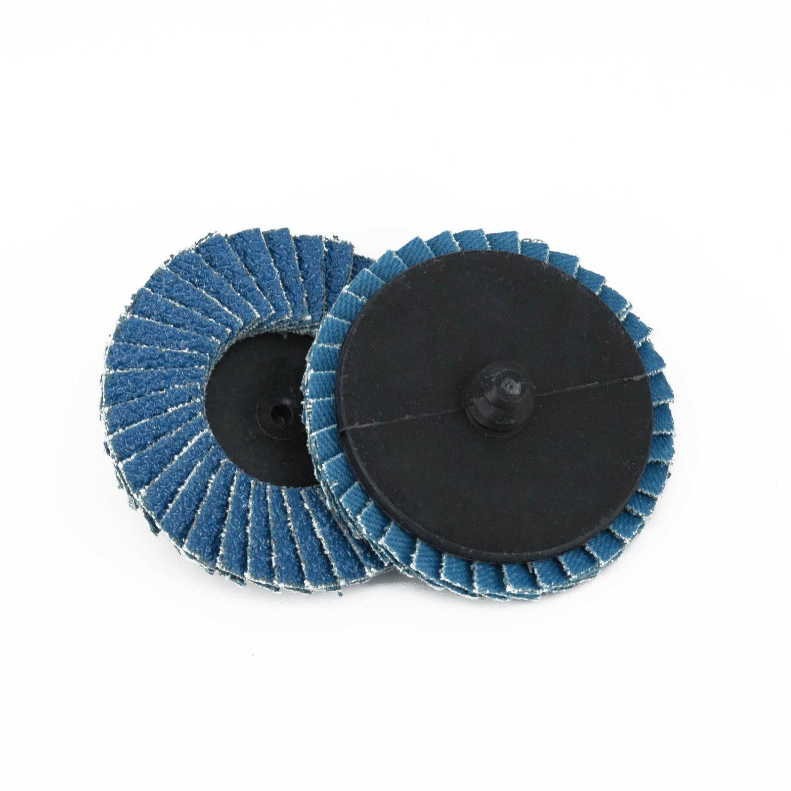 5Pcs 2Inch 60 Grit Round Flap Sanding Grinding Disc Wheel Set Blue Low Noise