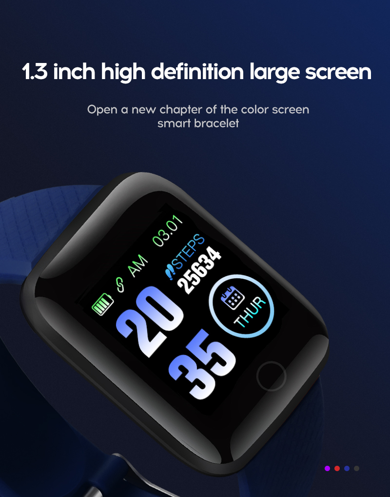 LYKRY 116 plus Smart Bracelet Fitness Tracker Heart Rate Blood Pressure Monitor Smart Band IP67 Waterproof Sports For Android IOS+Box (4)