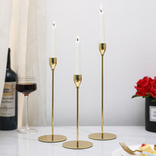1 Piece Candle Holder Single Head Candelabra Candlestick Home Festival Decor Wedding Desktop Ornaments