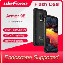 Ulefone ARMOR 9E 8 ГБ + 128 ГБ прочный телефон Android 10 Helio P90 Восьмиядерный 2,4G + 5G WI-FI Mobilene 6600 мА/ч, 64MP Камера NFC Смартфон
