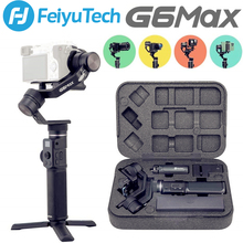 Used Feiyu G6 MAX 3 Axis Handheld Gimbal for Mirrorless Cameras Smartphone Action Cameras Pocket Cameras MAX Payload 2 65LB cheap FEIYUTECH 3-Axis action photo cameras SMARTPHONES CN(Origin) Bluetooth Following the shooting mode 1 2kg 2 65lb Aluminum