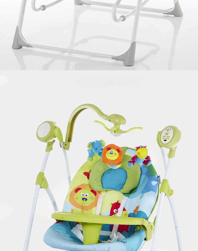 Ha6ae4564c1424ccfa823bc4798f8ff89H Electric baby rocking chair with baby comforter baby cradle sleeping recliner child shaker dinner plate multifunctional