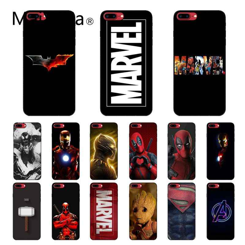 Maiyaca Deadpool Iron Man Marvel Avengers Telefoon Accessoires Case Voor Iphone 11 Pro Xs Max Xs Xr 8 7 6 plus 5 5S Se