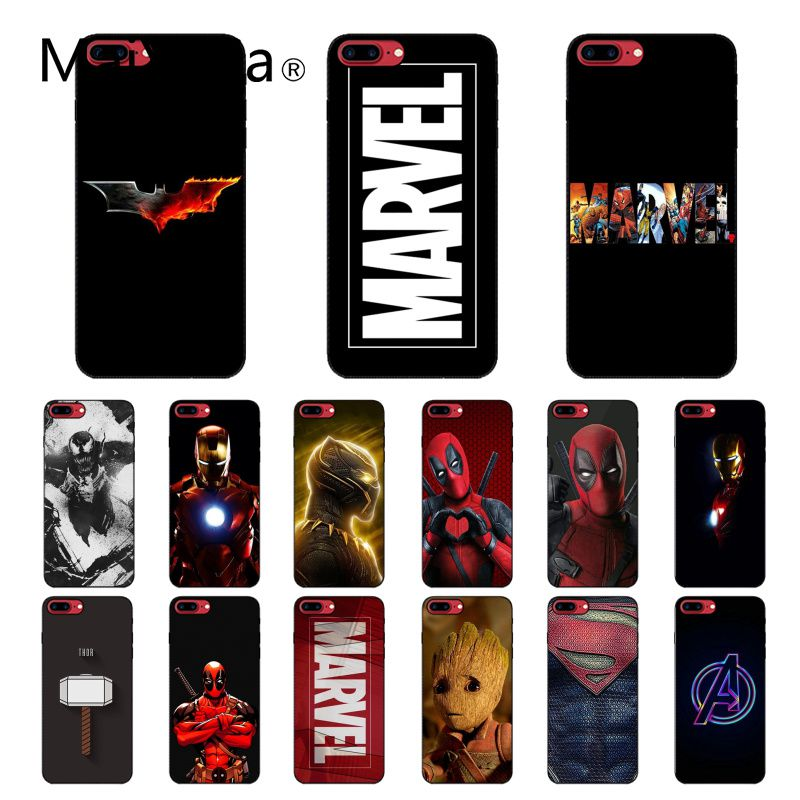 Maiyaca Deadpool Iron Man Marvel Avengers Phone Accessories Case for iPhone 11 Pro XS MAX XS XR 8 7 6 Plus 5 5S SE