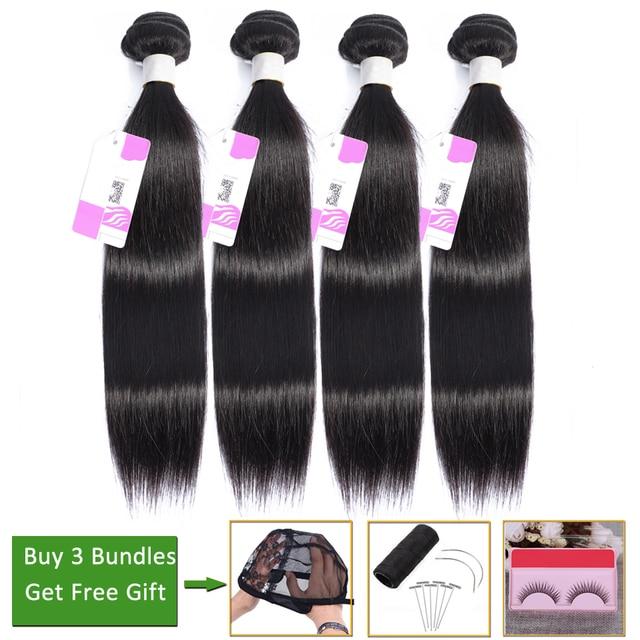 LEVITA straight hair bundles deals 100% human hair bundles bundles non-remy hair extension Peruvian brazilian hair weave bundles