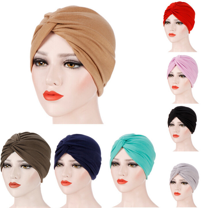 New Ladies Muslim Scarves Casual Scarf Women India Hat Muslim Ruffle Cancer Chemo Beanie Turban Wrap Cap Winter Hat Y802