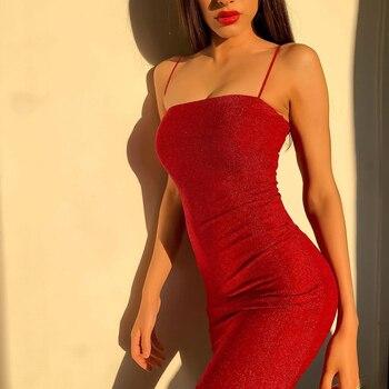 Женское Короткое облегающее платье Chrleisure, пикантное обтягивающее мини-платье на тонких лямках, для ночного клуба, на лето 4